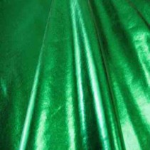 Kelly Green Stretch Lamae Spandex Fabric with lycra. Known also as Liquid Lamae, and hologram spandex fabric.